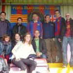 FC Barcelona supporters at Meadow Park