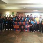 PB London with the FC Barcelona ladies team and staff