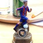 La Liga competition trophy, due to start shortly!