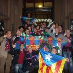 Penya Blaugrana London rocking Glasgow