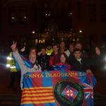 Penya Blaugrana London before entering Celtic Park