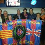PB London with penya Tordera