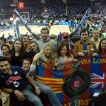 PBL members at the O2 arena for the Final 4 in London
