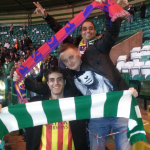 There it goes the barça scarf of PBL's president... I am sure it will be very well taken care of