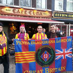 Some PB London members in Amsterdam, with the flag