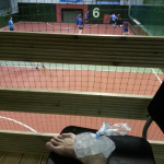 Not all members finished the match... some had to watch from the stand