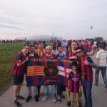 PBL Members outside of the Allianz-Arena before the match against Bayer Munich