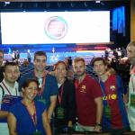 Penya Blaugrana London with delegates from other penyes