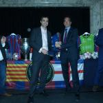 Eduard Manas, PBL president, handing a present on behalf of PBL to Josep Maria Barnils