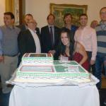 Cutting the PBL anniversary cake - our member Katarzyna really liked the cake! :)