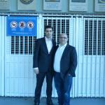 Eduard Manas (PBL president) and Toni Freire (FCB World Federation president)