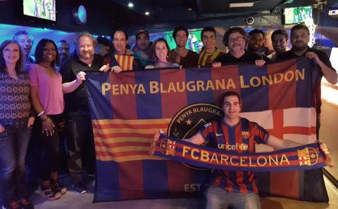 Copa del Rei final win at Penya Blaugrana London, with Antoni Castella and Albert Latorre