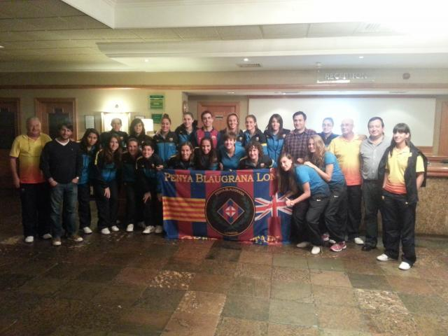 PB London with FC Barcelona ladies players and staff