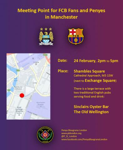 Manchester meeting point - 24 Feb