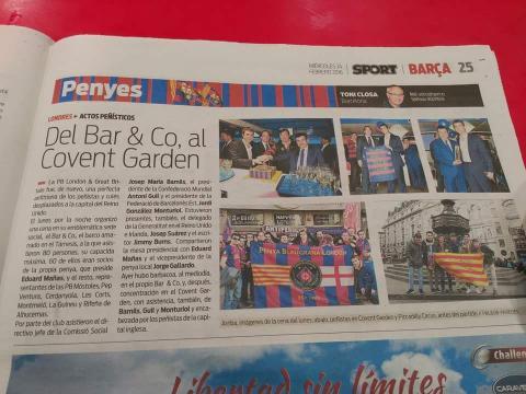 Del BarCo to Covente Garden, PBL in Sport