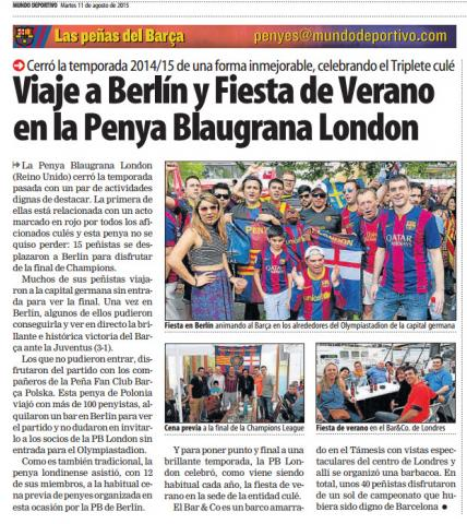 PBL in Mundo Deportivo: Berlin and summer BBQ party